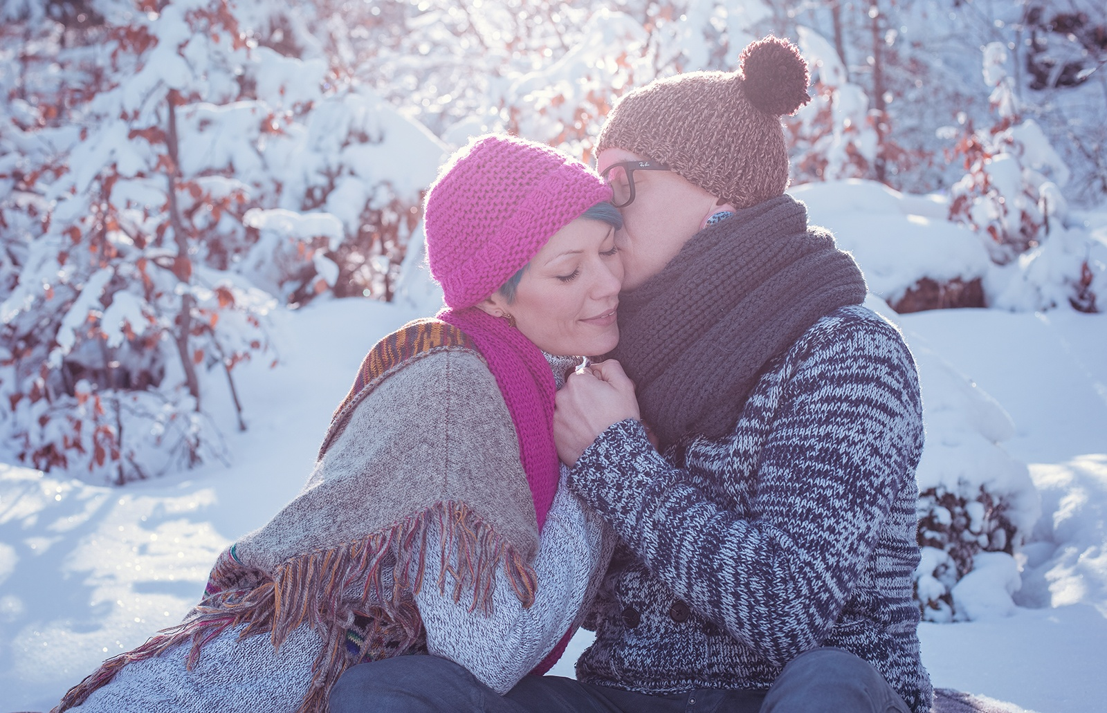 winter fotoshooting pärchen schweiz