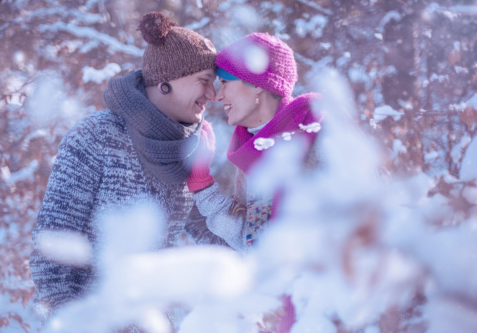 winter liebe pärchen shooting