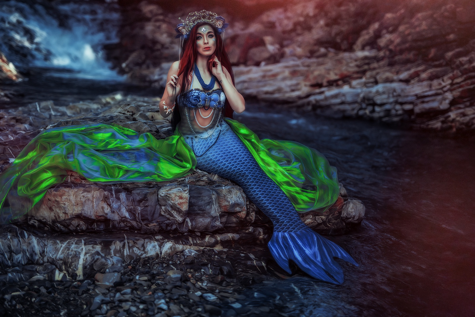 Mermaid-Fantasy-Fotoshooting-Schweiz-Sommer-Meerjungfrau-Wasser-Water