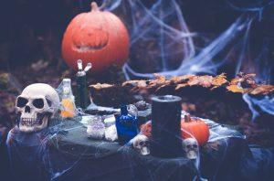 Halloween vorbereitung shooting