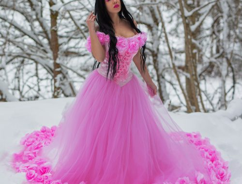 Kleid rosa mit Blumen_web
