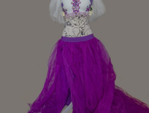 outfit fantasy lila