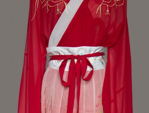 Geisha rot ganz nah