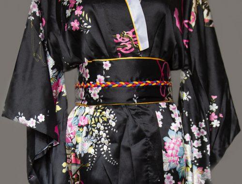 Geisha schwarz lang nah
